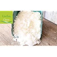 LiveSoy (Classic) Soy/SOYA Wax Flakes, 100% Natural Soy Wax by LiveMoor - Various Sizes (5kg)