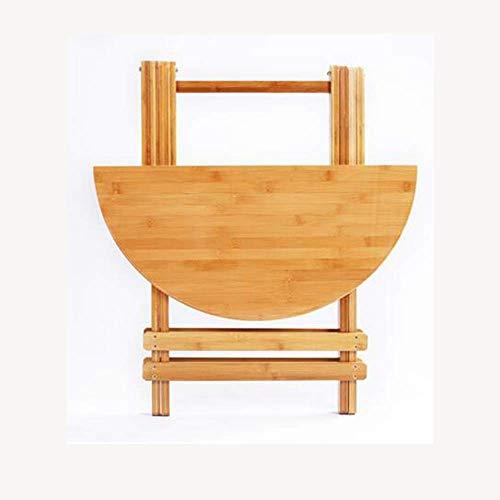 dianz Hauptdekoration/Möbel Laptop-Tisch Klapptisch runder Couchtisch Bambus-Tisch, seitlich, Snack-Tisch 3 Größen (ohne Hocker) Klapptisch,68 * 65 cm