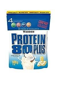 Weider, 80 Plus Protein, Kokosnuss, 1er Pack (1x 500g)