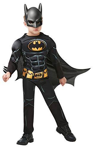 Batman Ein Kostüm - Rubie's 3300002 Black Core Batman Deluxe - Child Kostüm, schwarz, M
