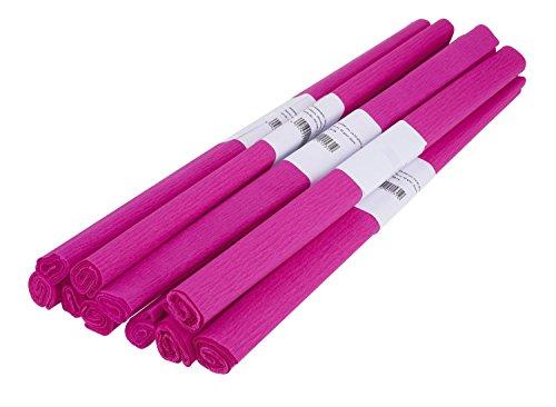 VBS Krepppapier, 50 x 200 cm, 10 Rollen Pink