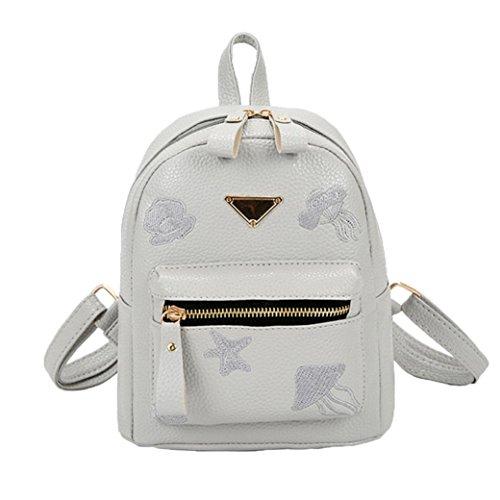 U.Expectating Backpack , Damen Schultertasche Grau