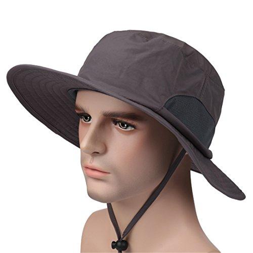 ECYC Atmungsaktive, schnell trocknende Anti-UV-Fischen Sonnenschutzhut Frauen Männer
