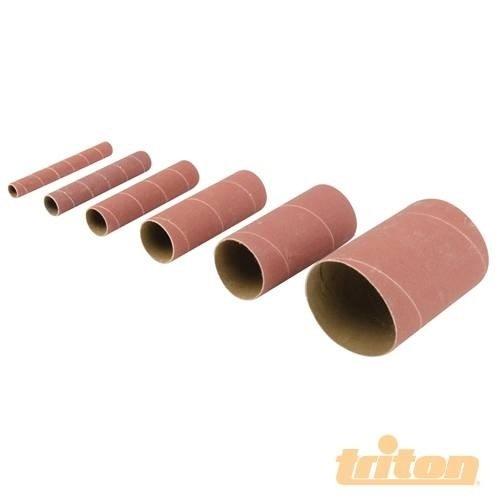 Triton 578665 - Rodillos lija óxido aluminio, 6 pzas