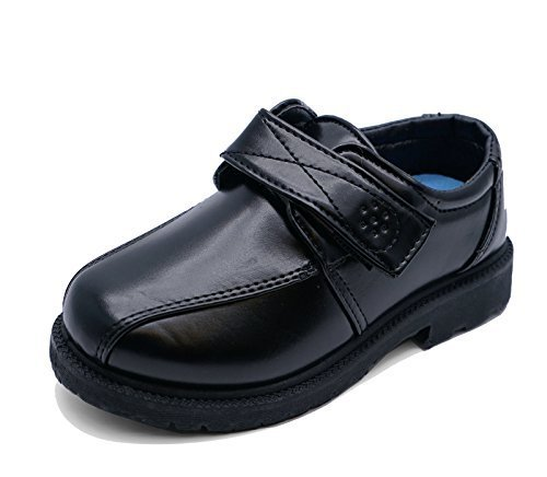 Boys Kids Junior Black Back to School Slip-On Smart Uniform Childrends Comfy...
