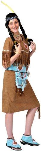 Kostüm funny Indian Girl in braun Gr.
