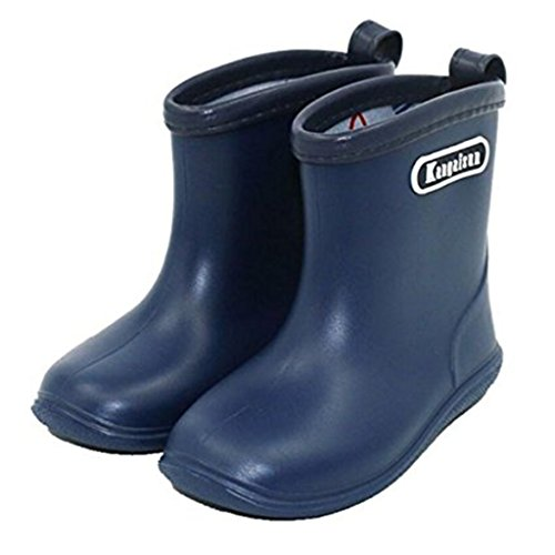 Kids Wellies Baby Rubber Rain Boots - Water Shoes Waterproof Wellington Lightweight Short Snow Boots Boys Girls Toddler, 1-6 Years (Blue Pink Yellow Navy)