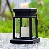 LED Solar Flammenlose Kerzenlaterne, mit Aufhängeclip für Außenbeleuchtung