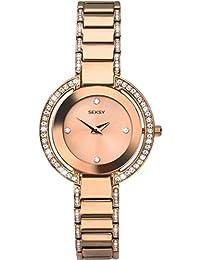 Sekonda Seksy Ladies Rose Gold Plated Watch Stone Set Dial, Bezel & Bracelet
