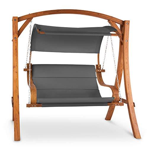 blumfeldt Maui Hollywoodschaukel Gartenschaukel - Sitzfläche: 110 cm, 2-Sitzer, inkl. Son