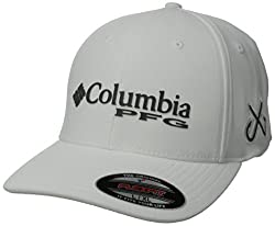 Columbia Pfg Mesh Pique Ball Cap - Whitedouble Hook, Smallmedium