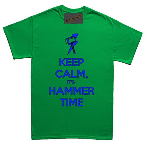 Renowned Keep Calm its hammer time Herren T Shirt Grün