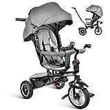 besrey Tricycle Evolutif Bébé 7 en 1 Vélo Enfant Garçon Fille Réversible Multifonctionnel, 7 Mois - 6 Ans