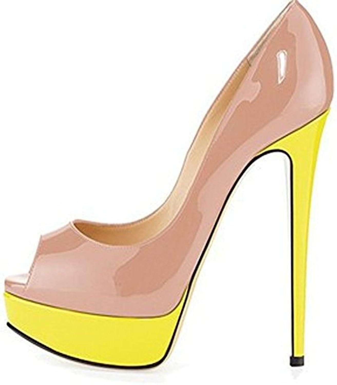 a181264fa9d GAOLIXIA Women s Heel Candy Color Evening Mouth High Heel Fish Mouth High  Heel Waterproof Platform Evening Dress Wedding Shoes in.
