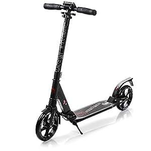meteor scooter big wheel kinderroller klappbar cityroller. Black Bedroom Furniture Sets. Home Design Ideas