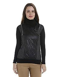 Campus Sutra Womens Plain Sweatshirt (AZW17_HFLDR_W_PLN_CHBL_AZ_S)