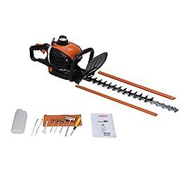 Sotech – Taille Haie, Taille haie sans fil 650w, Coupe haie à essence longue portée avec lame de 60cm de longueur, puissant outil de jardinage 22.5cc,Orange