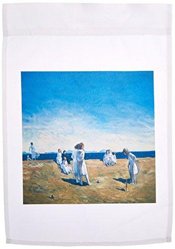3dRose FL_169629_1 Kroquet The Beach Party 1906 von Rockwell Kent Gartenflagge, 30,5 x 45,7 cm - 1906 Foto