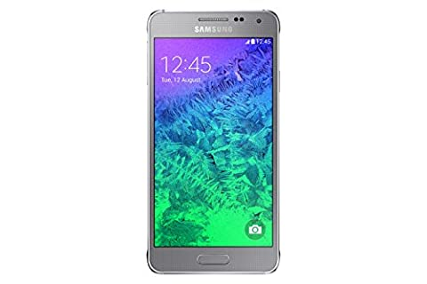 Samsung Galaxy Alpha Smartphone (4,7 Zoll (11,9 cm) Touch-Display, 32 GB Speicher, Android 4.4) silber