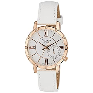 Casio Sheen Analog White Dial Women's Watch – SHE-3046GLP-7AUDR (SX164)
