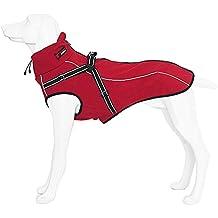 Abrigo para perros con arnés integrado para Mediano y Grande Chaqueta Traje Refectante Caliente en Invierno Rojo S Treat Me