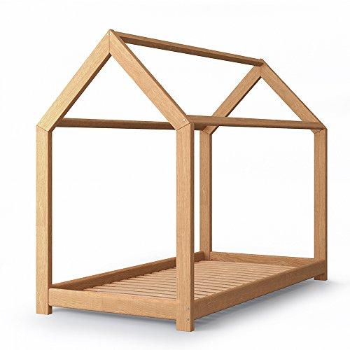 *VICCO Kinderbett Kinderhaus Bett Kinder Holz Haus Schlafen Spielbett Hausbett 80×160*