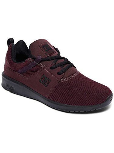 DC Shoes Heathrow TX Se, Baskets Femme Rouge - Maroon