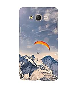Paragliding in Mountains Hard Polycarbonate Designer Back Case Cover for Samsung Galaxy On5 Pro (2015) :: Samsung Galaxy On 5 Pro (2015)