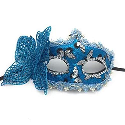 s Halloween Maske Halbes Gesicht Schmetterling Mädchen Cosplay Maskerade,Blue ()