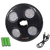 Itscool Luce per Ombrellone 24 LED ad Alta Luminosità, 4500 mAh Batteria Ricaricabile 280 Lumen