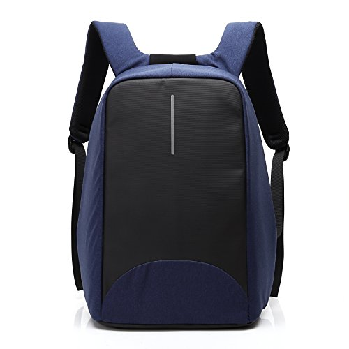 15.6 Inch Laptop Backpack with USB Port, UBaymax Canvas Waterproof Day Pack Rucksack for School Business Traveling Hiking (Navy Blue)