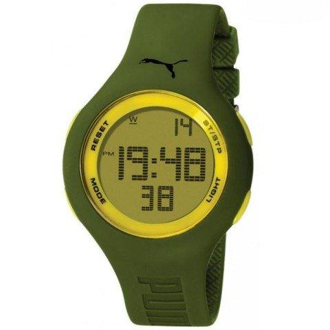 Puma Time - A.PU910801004 - Montre Femme - Quartz - Digitale - Chronomètre - Bracelet plastique Vert