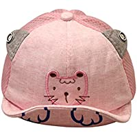 JYJMCute Infant Kids Tiger Cartoon Animal Hat Peak Baseball Cap Sunhat Soft Baseball Base Duck Cap Visor (Rosa, Size:46-52cm/18.1''-20.4')