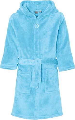 Playshoes Unisex Kinder Fleece Bademantel, Blau (Bleu 17), 146/152 - Blaue Fleece Bademantel