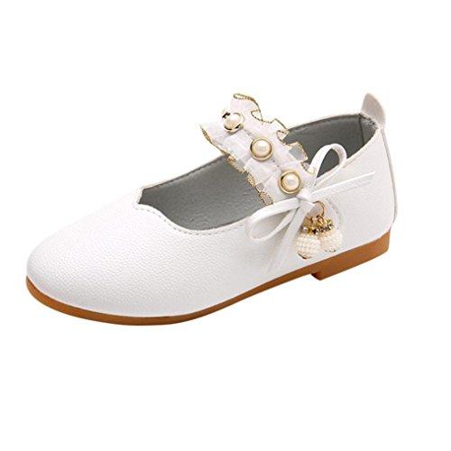 SOMESUN Baby Mädchen Elegant Lederschuhe Süße Fliege Perlen -