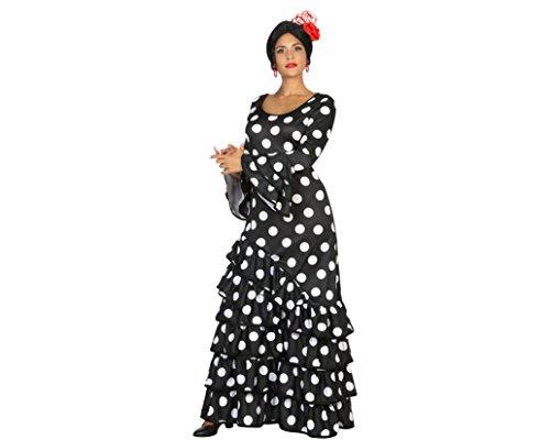 Atosa-16940 Disfraz Flamenca M-L, color negro, (16940)