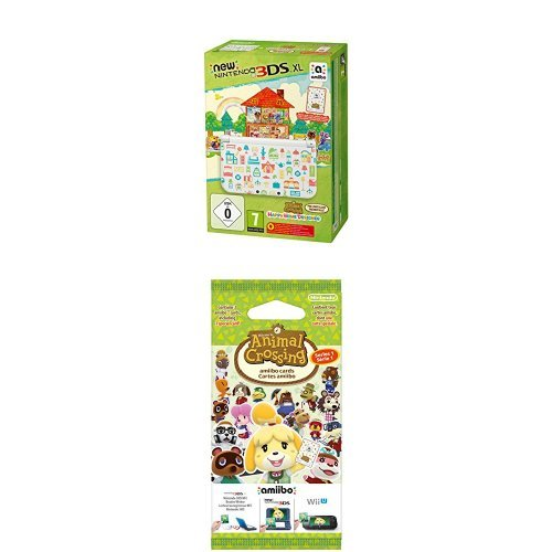 Pack Console New Nintendo 3DS XL + Animal Crossing : Happy Home Designer préinstallé + Paquet de 3 cartes