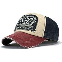 Amison Cool Nuovo Unisex Baseball Tappo Cotone Moto Tappo Bordo Rettifica  Vintage Cappello 39f7fec1703d