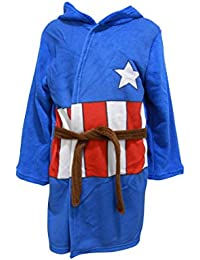 Captain America Jungen Morgenmantel Bademantel-Kleid