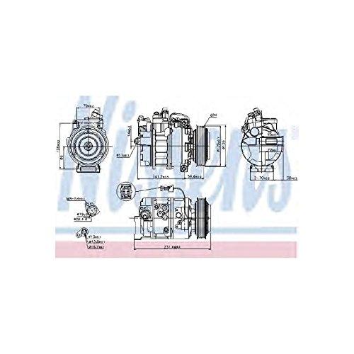 NISSENS 89208 Kompressor, Klimaanlage