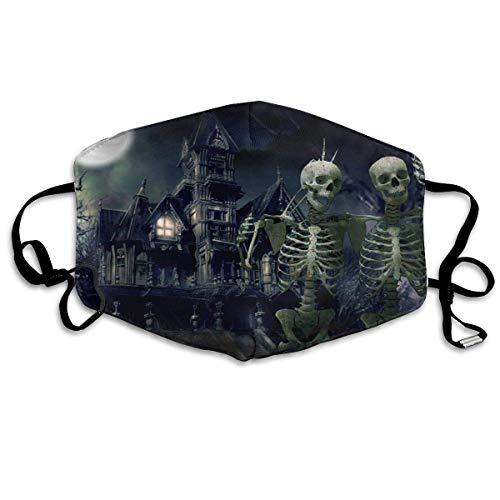 Daawqee Staubschutzmasken, Anti Dust Face Mouth Cover Mask Skeleton Halloween Anti Pollution Breath Healthy Mask (Face Bilder Skeleton Halloween Für)
