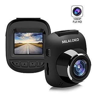 Dash Cam, milaloko Mini Auto Kamera Full HD 1080P und 168° Weitwinkel, F5Dashboard Kamera Driving Recorder mit Loop Recorder G-Sensor und Bewegungserkennung, Auto DVR
