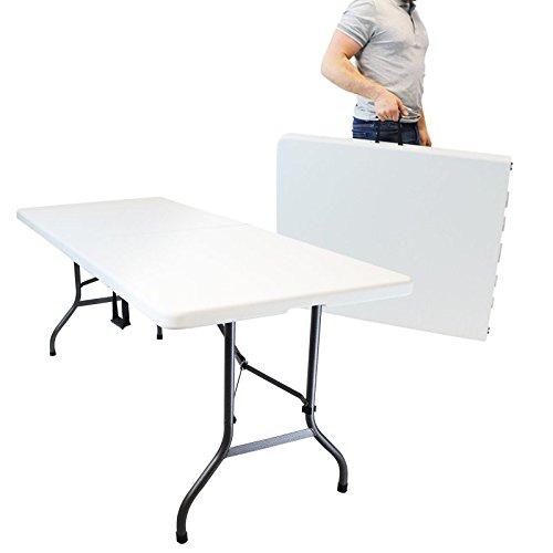 Linxor tavolo da campeggio pieghevole con maniglia l 184 x l 76 x h 74 cm quattro - Tavolo pieghevole con maniglia ...