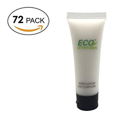 ECO AMENITIES Trasparente Tubo Flip Cap Confezionati Singolarmente 30ml Body Lotion, 72 Tubi per Caso