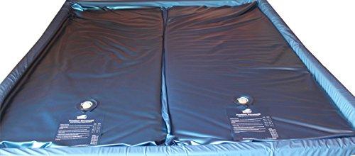 Mesamoll Dual Wassermatratzen 2er Set | Wasserkerne | Wasserbett Matratzen für Softside Wasserbetten (200 x 220 cm, 90% Beruhigung) -