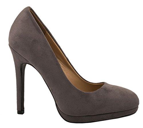 Elara , chaussures compensées femme Gris