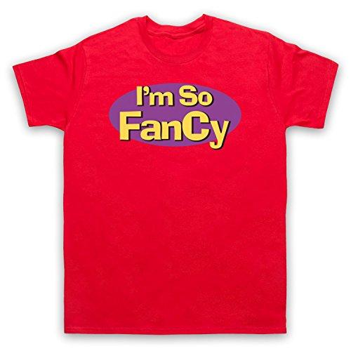 I'm So Fancy Slogan Herren T-Shirt Rot