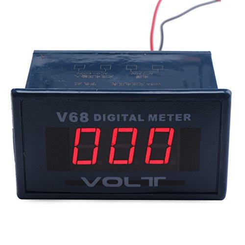DROK® AC 0-600V Spannung Meter rot LED Digital Display-Panel AC Voltmeter Test Volt Detektor für Auto Automobil Fahrzeug Motorrad -