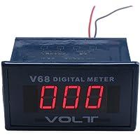 Drok® AC 0–600V tensione Meter pannello LED rosso display digitale AC voltmetro test rilevatore di Volt per auto automobile veicolo moto