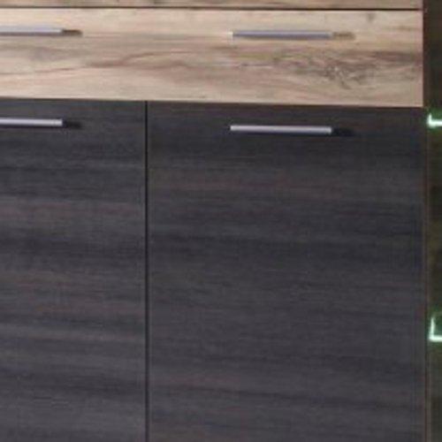 trendteam BM Highboard Wohnzimmerschrank | Nussbaum Satin | Dunkelbraun  | 160 x 137 cm | Inkl. LED Beleuchtung - 6
